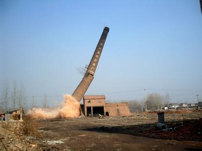 东西湖区烟囱拆除(爆破)公司